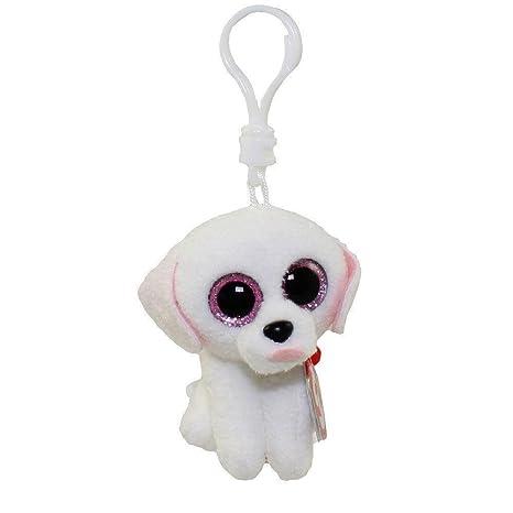 Y ty Beanie Boos Pippie blanco Clip de perro de peluche ...