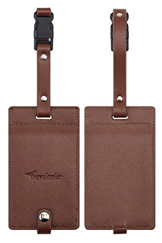 Travelambo Synethic Leather Luggage Tags & Bag Tags 2 Pieces
