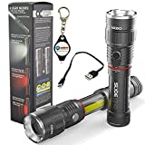 Nebo Slyde King 6434 Rechargeable LED Flashlight Work Light Adjustable Zoom with LightJunction Keychain Light