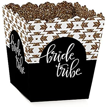 Bride Tribe - Party Goodie Favor Boxes - Bridal Shower & Bachelorette Party Treat Candy Boxes - Set of 12
