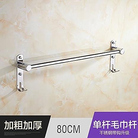 Estética única de Premium moda baño Toalla acero inoxidable estantes colgar accesorios de baño de toalla de baño WC de largo toallas toalla bares,80CM ...