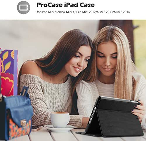 ProfessionalCase iPad Mini Case for iPad Mini 5 2019/ Mini 4, Mini 1 2 3, Slim Stand Protective Folio Case Smart Cover for iPad Mini 5/4/3/2/1 -Black