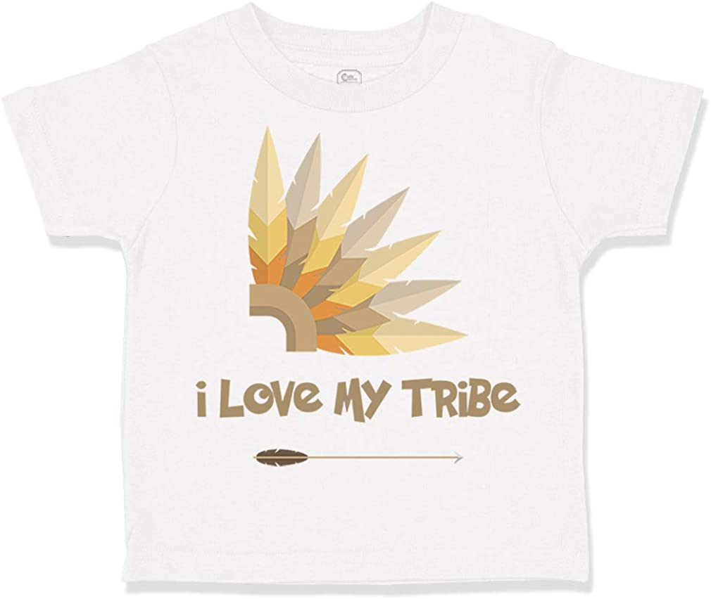 Custom Toddler T-Shirt I Love My Tribe Funny Humor Cotton Boy /& Girl Clothes