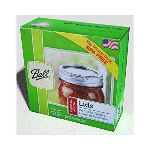 Ball Regular Mouth Size Canning or Mason Jar Lids, 8 dozen or 96 lids (Ball Jar Lids)