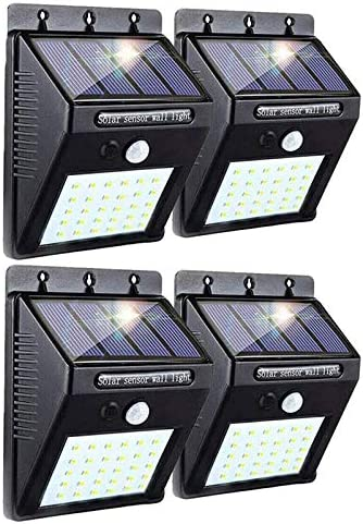 XingTong 4Pack Solar Motion Sensor LED Solar Light with Reflector Outdoor Wireless Flood Lights IP 65 Waterproof for Garden Fence Patio Garage Outdoor Garden, Patio, Garage,