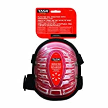 Task Tools T77654 All-Terrain Injected Gel Kneepads with Removable Cap