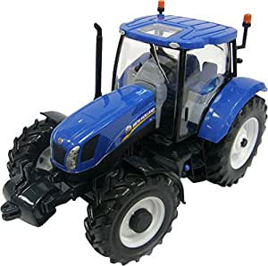 Britains Tractor New Holland T6175, color azul y negro (TOMY 42895)