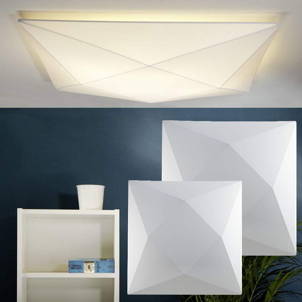 Moderne Wandleuchte & Deckenleuchte aus Stretch-Stoff   58 cm   Deckenlampe Polaris für Wohnzimmer, Schlafzimmer, Flur, Esszimmer, Kinderzimmer, Ankleidezimmer   230V, 4x E27, Wand & Decke, waschbar