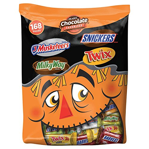 MARS Chocolate Fall Harvest Minis Size Candy Bars Variety Mix 45.8-Ounce (Assorted Halloween Candy)