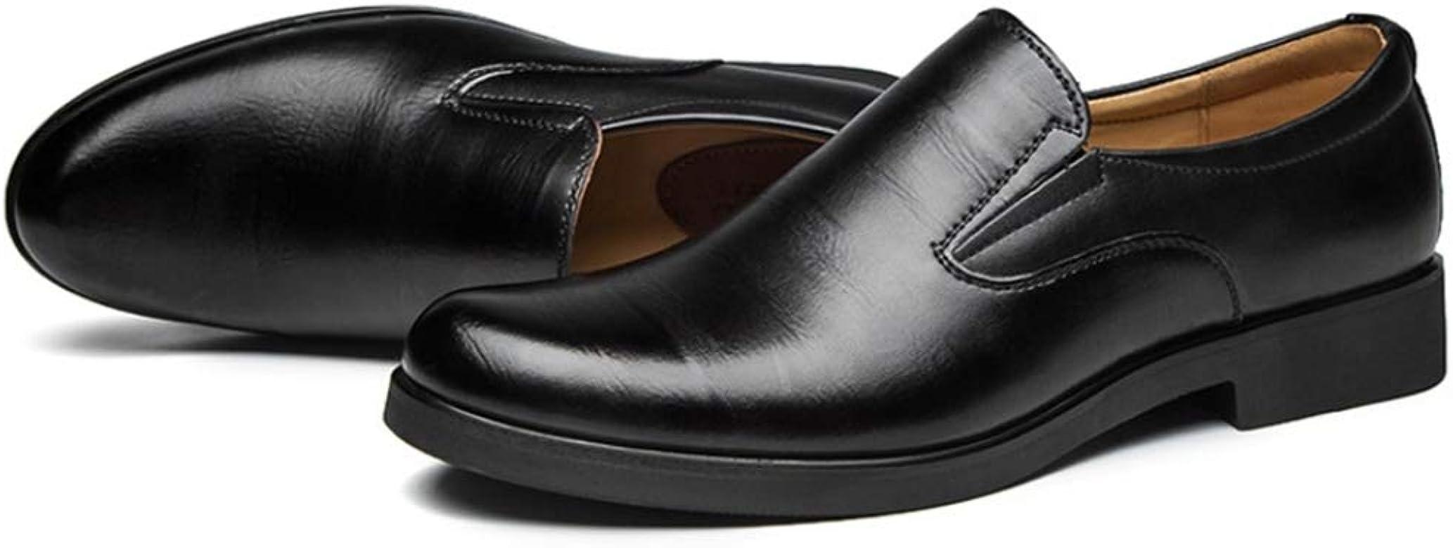 Zapatos de Cuero para Hombres Mocasines Planos Ocasionales Bajos Casuales Zapatos de Vestir de Negocios de Oficina de Bodas con Punta Puntiaguda: Amazon.es: Zapatos y complementos