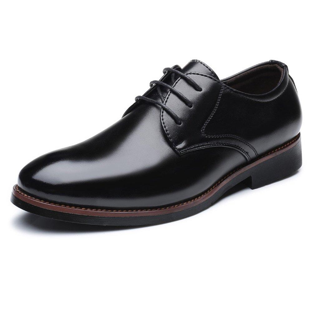 Lederschuhe Herren Lederschuhe Formale Business Leder Schuhe Klassische Matte PU Leder Business Schnürung Atmungsaktiv Ausgekleidet Oxfords schwarz 55a094