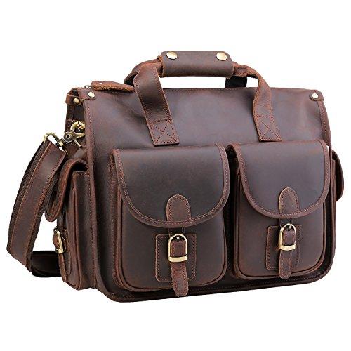 Grain Leather Briefcases (Polare 15.7