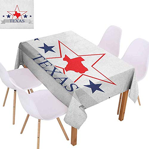 Polyester Tablecloth Texas Star San Antonio Dallas Houston
