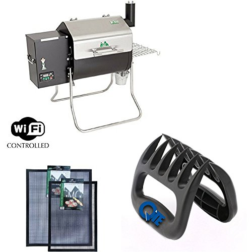 Davy Crockett GMG Pellet Grill With BBQ Claws & Grilling Mat Combo Pack by Green Mountain Grills