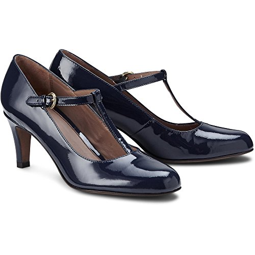 Cox Damen T-steg-pumps Blau-dunkel