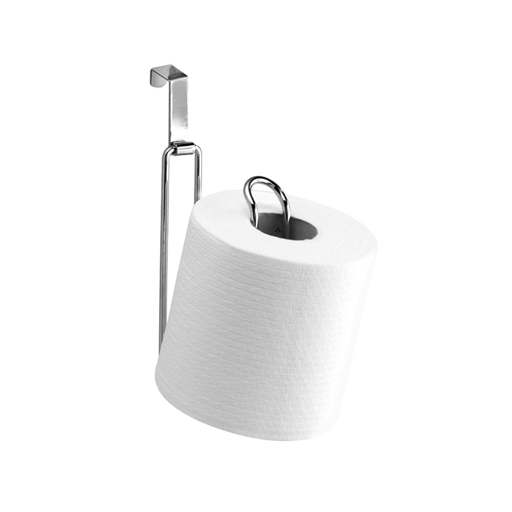 InterDesign - Metalo - Reserva para rollo de papel higiénico para colocar sobre el tanque de