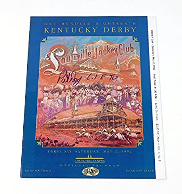 Pat Day Signed 1992 Kentucky Derby Program Lil E Tee Auto - Autographed Sports Photos