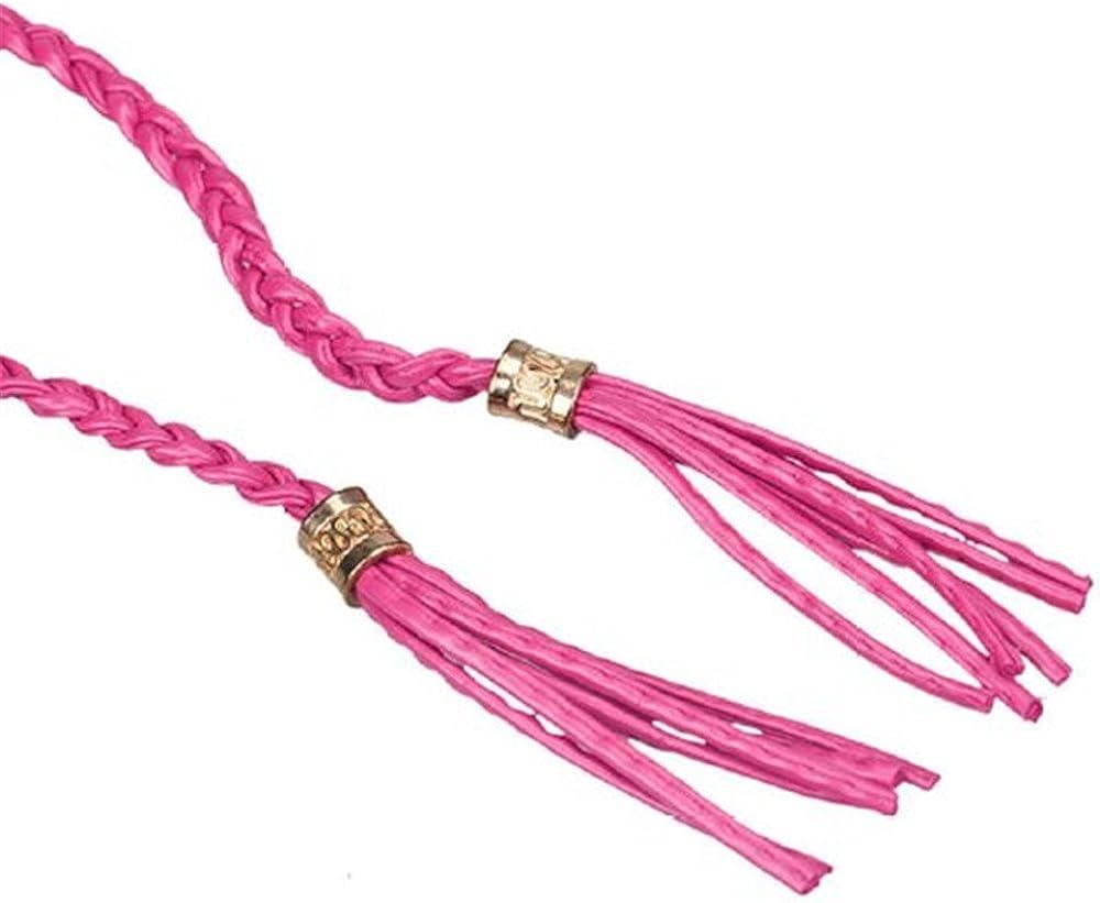 JYS Womens Bohemia Tassel Thin Braided Belt For Dress Waist Chain
