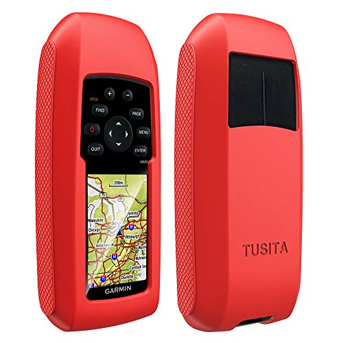 TUSITA Case for Garmin GPSMAP 73 78 78s 78sc - Silicone Protective Cover - Handheld GPS Accessories (Red)