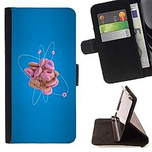 BullDog Case - FOR/Samsung Galaxy S3 Mini I8190Samsung Galaxy S3 Mini I8190 / - / Donut Atom Funny /- Monedero de cuero de la PU Llevar cubierta de la caja con el ID Credit Card Slots Flip funda de cuer