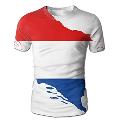 7335c2ec3b4b Amazon.com: Croats Serbs Flag Map Men's 3D Full Printed T-Shirt Casual  Short Sleeves Tees: Clothing