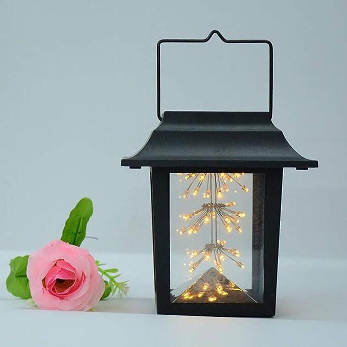 TAOtTAO Solar Light Solar Light clásico de Solar LED de luz en Exteriores, el rauchlose Farol de gypsop Mullet lámpara cálida depende (Black): Amazon.es: ...