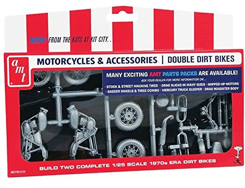 AMT PP014 Motorcycle Parts Pack Double Dirt Bike by AMT