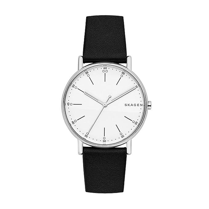 Skagen Signatur - Reloj para hombre de 40mm - Acero inoxidable negro - Correa