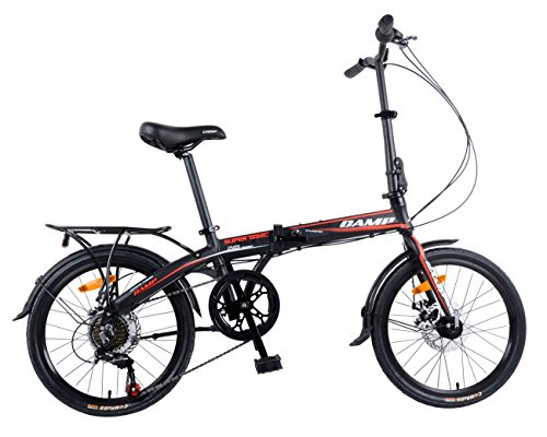 Camp 20″ Alloy 7 Speed Folding Bike Disc Brake Super Sonic