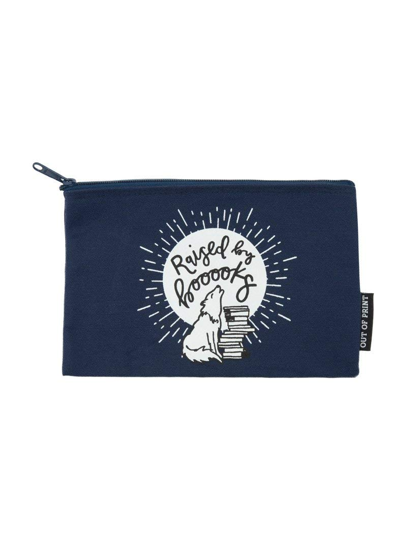 Out of Print Raised by Books Pouch