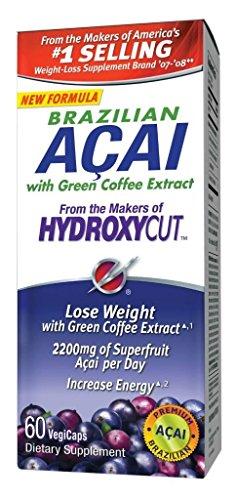 Hydroxycut Acai brésilienne avec Extrait de café vert - 60 capsules (3 pièces)