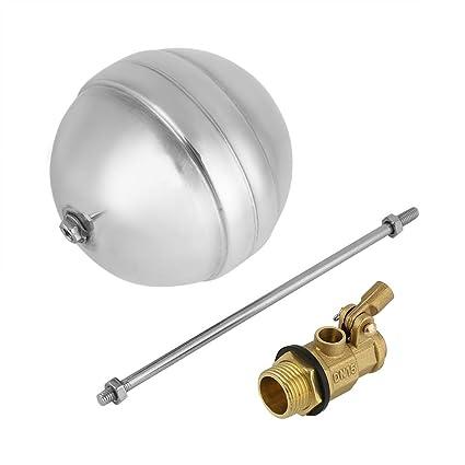akozon Float – Válvula de bola DN15 G1/2 latón rosca exterior Agua Sensor Acero