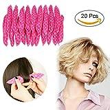 Hair Curler No Heat Overnight DIY Beach Wave Curler Magic Pillow Cloth Hair Roller Flexible Foam Sponge 20PCS
