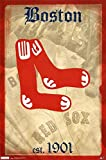 Red Sox -- Retro Logo Poster 22 x 34in