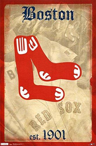 Red Sox - Retro Logo Poster