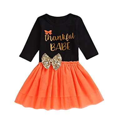57e8a61edb0 Toddler Kids Long Sleeve Princess Dress Baby Girls Autumn Winter Cartoon  Fox Print Cute Clothes Outfits 1-5 Years  Amazon.co.uk  Clothing
