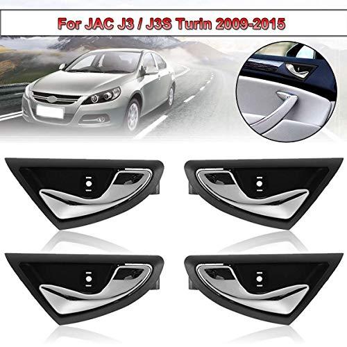 4Pcs Car Interior Inside Inner Door Handle Handles For JAC J3 J3S J3 Turin 2009-2015 6105230u8010 6105240U8010 ()