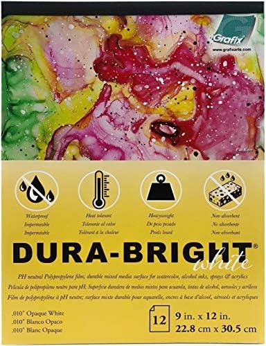 Grafix P10DBOW912-12 DURA-BRIGHT .010 9x12 12PGS, 22,9 x 30,5 cm, 12 Blatt