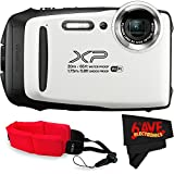 Fujifilm FinePix XP130 Digital Camera (International Version) No Warranty + Floating Strap + Fibercloth (White)