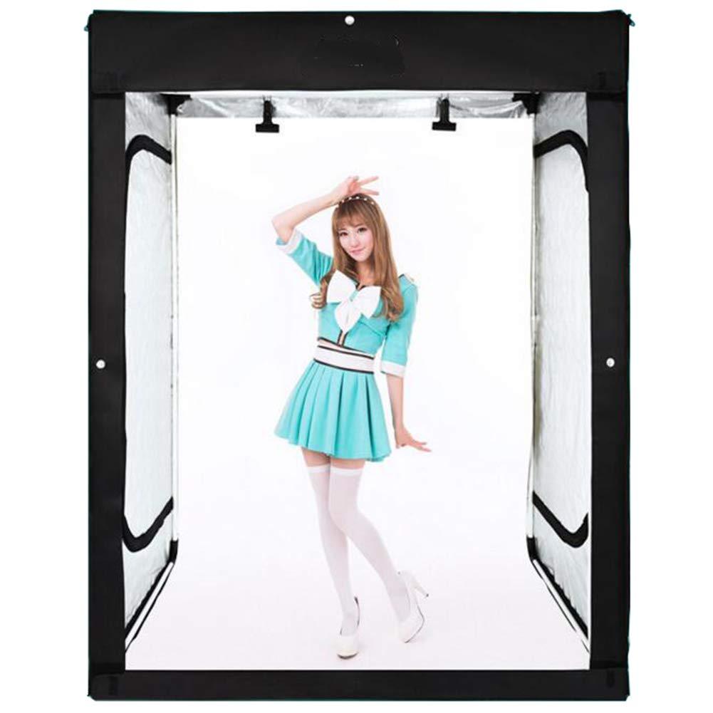 Peacefre 2メートルポータブルスタジオledライトボックスフォトスタジオプロフェッショナル写真撮影テント付き3 pvc背景ボードとキャリングケース   B07MLC7PMX