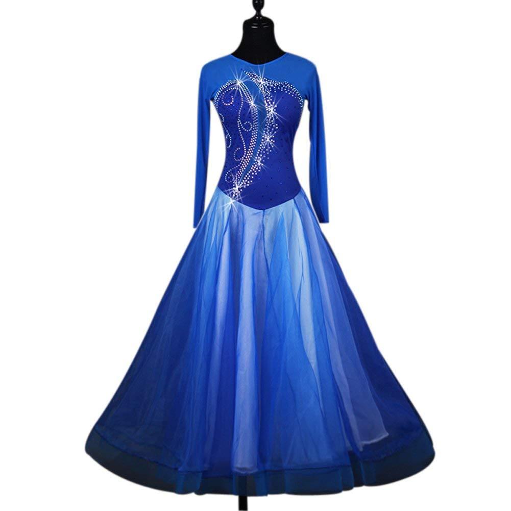 【送料無料キャンペーン?】 garuda 社交ダンス衣装 ダンスドレス モダンダンスウェア B07P8T1PJB サイズ調整対応 ダンスドレス 青色 B07P8T1PJB 青色 Large Large, きものLife:6aed8681 --- a0267596.xsph.ru