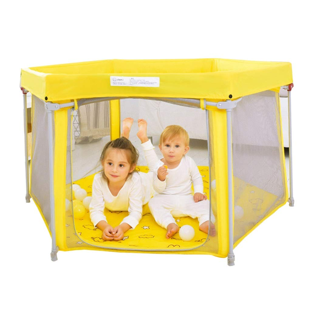 【NEW限定品】 ベビーサークルプレイヤード 131*131*75cm ゲームフェンス屋内セキュリティフェンス リビングルーム屋外フェンスの幼児バー 家庭の寝返り防止バー折りたたみ ベビーサークルプレイヤード Yellow (Color : : Yellow, Size : 131*131*75cm) 131*131*75cm Yellow B07K58C22B, 質ウエダ名古屋栄店:fb579708 --- a0267596.xsph.ru