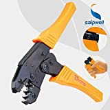 Saipwell ferrule crimper ranges 0.5-6mm2 / 22-10 AWG for electrical wire end-sleeves and hose clamp crimping work tools HS-30J