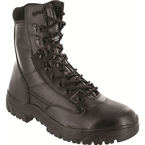 Highlander Boys Delta Military Leather Lace Up Winter Walking Boots negro