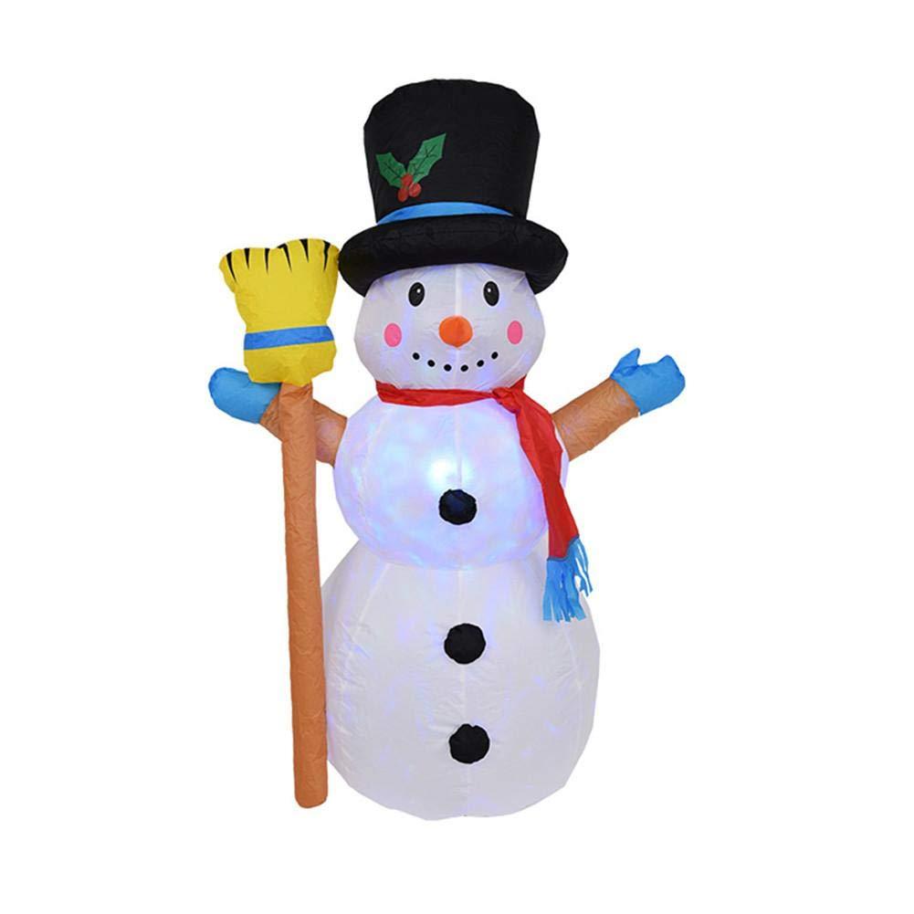 fridaymonga Muñeco De Nieve Inflable De Navidad,Decoración Inflable Grande De La Navidad del Muñeco De Nieve con Las Luces para La Decoración Interior ...