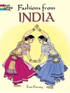 Fashions From India Dover Fashion Coloring Book