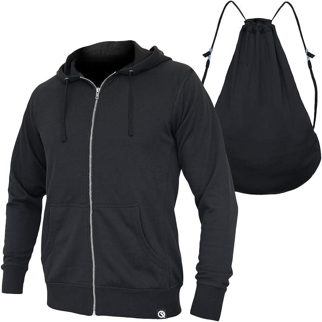 Quikflip 2-in-1 Reversible Backpack Hoodie (As Seen on SHARK TANK) Unisex Full-Zip Hero Hoodie