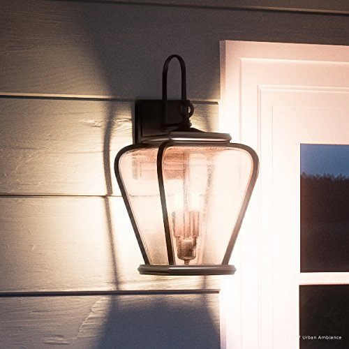 Luxury French Country Outdoor Wall Light, Medium Size: 17.5