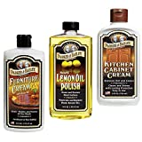Parker and Bailey Bundle- Natural Lemon Oil polish, Furniture Cream & Kitchen Cabinet Cream