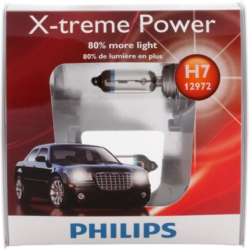 Philips H7 X-treme Power Replacement Bulb, (Pack of 2)